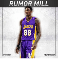 Memes, La Lakers, and 🤖: RUMOR MILL  88  VN DESIGN  fOYraVNDSGN The LA Lakers are currently meeting with former NBA center Larry Sanders, according to Spectrum SportsNet Mike Bresnahan.  #VNdesign