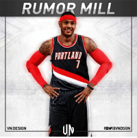 Portland Trail Blazers are interested in dealing for Carmelo Anthony, if he waives no-trade clause, per Adrian Wojnarowski.  #VNdesign: RUMOR MILL  ORTLAN  UM  VN DESIGN Portland Trail Blazers are interested in dealing for Carmelo Anthony, if he waives no-trade clause, per Adrian Wojnarowski.  #VNdesign