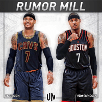 Carmelo Anthony is now open to waiving no-trade clause for Houston Rockets or Cleveland Cavaliers, according to Adrian Wojnarowski. VNdesign: RUMOR MILL  UM  VND  N DESIGN Carmelo Anthony is now open to waiving no-trade clause for Houston Rockets or Cleveland Cavaliers, according to Adrian Wojnarowski. VNdesign