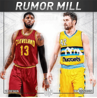 The Cleveland Cavaliers and Indiana Pacers have continued to pursue a Paul George trade, with the Denver Nuggets as a potential 3rd team. The discussed deal would send George to Cleveland and Kevin Love to Denver. VNdesign: RUMOR MILL  VEA  13  42  VN DESIGN  foyaVNDSGN The Cleveland Cavaliers and Indiana Pacers have continued to pursue a Paul George trade, with the Denver Nuggets as a potential 3rd team. The discussed deal would send George to Cleveland and Kevin Love to Denver. VNdesign