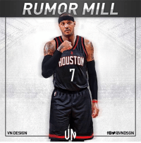 Carmelo Anthony would join Chris Paul, James Harden in Houston Rockets, if he gets New York Knicks buyout, according to Stephen A. Smith. VNdesign: RUMOR MILL  VN DESIGN Carmelo Anthony would join Chris Paul, James Harden in Houston Rockets, if he gets New York Knicks buyout, according to Stephen A. Smith. VNdesign