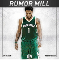 Derrick Rose is meeting with Milwaukee Bucks officials today, per Adrian Wojnarowski. VNdesign: RUMOR MILL  VN DESIGN Derrick Rose is meeting with Milwaukee Bucks officials today, per Adrian Wojnarowski. VNdesign