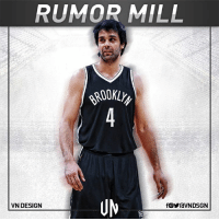 Memes, Brooklyn, and Serbian: RUMOR MILL  VN DESIGN  fOYraVNDSGN The Brooklyn Nets are interested in signing Milos Teodosic, according to Sportando. The Serbian point guard will be free agent from July 1 when his contract with CSKA Moscow expires.  #VNdesign