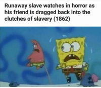 """<p>Done. (by oh_bummer ) via /r/dank_meme <a href=""""http://ift.tt/2uAJ3TE"""">http://ift.tt/2uAJ3TE</a></p>: Runaway slave watches in horror as  his friend is dragged back into the  clutches of slavery (1862)  te  7 <p>Done. (by oh_bummer ) via /r/dank_meme <a href=""""http://ift.tt/2uAJ3TE"""">http://ift.tt/2uAJ3TE</a></p>"""