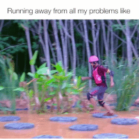 Memes, Running, and 🤖: Running away from all my problems like Tag a mate who's always in denial 😂 takeshiscastle ad