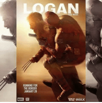 The international movie poster for Logan needed a personal touch.   @Mutant101 on Facebook  ~Deadpool: RUNNING FOR  THE BORDER  JANUARY 20  WADE The international movie poster for Logan needed a personal touch.   @Mutant101 on Facebook  ~Deadpool