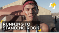 This young Navajo man ran to Standing Rock to deliver a message.: RUNNING TO  STANDING ROCK This young Navajo man ran to Standing Rock to deliver a message.
