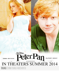 9gag, Dank, and Emma Watson: RUPERT GRINT  EMMA WATSON  AOL Keyword Patar Pan  IN THEATERS SUMMER 2014  9GAG COM/GAG 4824913 Epic Movie of 2014
