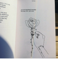 Beautiful, Love, and I Love You: rupi kaur  spers i love you  is hands  istband  you were temptingly beautiful  but stung when i got close  you must  e difference  t and need  t that boy  inly