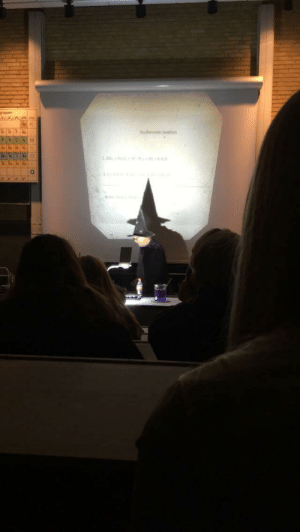 Time, Cape, and Hat: ruppen Our professor wears his hat and cape every time he conducts an experiment