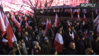 Dank, Independence Day, and 🤖: RUPTL Nationalist march held in Warsaw on centenary of Polish Independence Day Courtesy: Ruptly