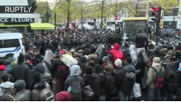 Dank, Metro, and Paris: RUPTLY  CIE FLEURS Evacuation of refugees from makeshift camp at Stalingrad metro station in Paris (Courtesy Ruptly)