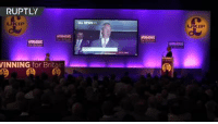 Dank, Party, and Live: RUPTLY  WINNING  for Britain  UKIP LIVE: Farage speaking at UKIP party conference
