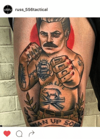 Manly Ron Tattoo; not mine but worth sharing: russ 556tactical  CON Manly Ron Tattoo; not mine but worth sharing