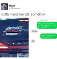 """<p>Love u :) via /r/wholesomememes <a href=""""http://ift.tt/2rcSOFK"""">http://ift.tt/2rcSOFK</a></p>: Russ  @RLongano  gotta make friends somehow  Text Message  Today 9:13 AM  ayyyy I'm right behind  you bro. talk about traffic  am I right lol  OFOR SALEO  Exactly  ight man well have a  good day love u  U 2  IN  OHI <p>Love u :) via /r/wholesomememes <a href=""""http://ift.tt/2rcSOFK"""">http://ift.tt/2rcSOFK</a></p>"""
