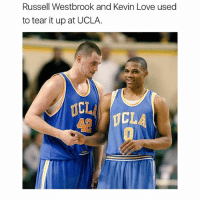 Tb to this duo at UCLA 🔥: Russell Westbrook and Kevin Love used  to tear it up at UCLA.  ICL  CLA Tb to this duo at UCLA 🔥