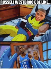 Russ remembering the good times. #Thunder Nation: RUSSELL WESTBROOK BE LIKE...  ONBAMEMES  CITY Russ remembering the good times. #Thunder Nation