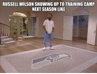 """Where'd everyone go?"" https://t.co/I9FqwNBcAy: RUSSELL WILSON SHOWING UP TOTRAINING CAMP  NEXT SEASON LIKE  @NFL MEMES ""Where'd everyone go?"" https://t.co/I9FqwNBcAy"