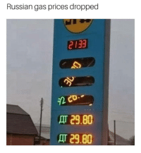 Gas Prices: Russian gas prices dropped  2133  29.80  29.80