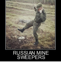 America, Crazy, and Memes: RUSSIAN MINE  SWEEPER marines airforce camo atv humvee army america withnohands whodidthis grunt camo c4 crazy claymore landmine mine doitforthegram dead rescue russian reenlistment trustme holdmybeer boom boot bomb pew