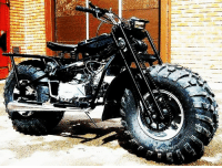 Russian VASUGAN 2x2 All-Terrain Motorcycle. It sells for under $1,000. There are only a couple if manufacturers who build 2 wheel drive bikes in the world. The only 2x2 I could find built in the US is not as good as this one, but costs over $6,000.  - Tom Retterbush: Russian VASUGAN 2x2 All-Terrain Motorcycle. It sells for under $1,000. There are only a couple if manufacturers who build 2 wheel drive bikes in the world. The only 2x2 I could find built in the US is not as good as this one, but costs over $6,000.  - Tom Retterbush