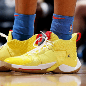 @RussWest44 pulls out new yellow Jordan Why Not Zer0.2 PE tonight. Thoughts?: @RussWest44 pulls out new yellow Jordan Why Not Zer0.2 PE tonight. Thoughts?