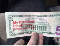 memehumor:  Everyone knows the president lives in the Lincoln Memorial: RUST  My Prasident  Donaild Trimn  Jives heeL memehumor:  Everyone knows the president lives in the Lincoln Memorial