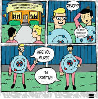 @mitchellmoffit being punny with us! 😂 (Comic via @theparallelcarousel): RUTHERFORD BOHR  COSTUME PARTY  SURE?  l'M  POSITIVE  READY?  m THINK I'M  MISSING AN  ELECTRON @mitchellmoffit being punny with us! 😂 (Comic via @theparallelcarousel)