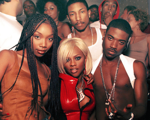 ruthless-nation:Brandy, Lil' Kim, Pharrell & Ray J: ruthless-nation:Brandy, Lil' Kim, Pharrell & Ray J