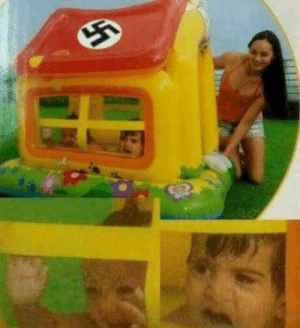 Children, Jewish, and Ruthless: Ruthless SS Officer gasses unruly Jewish children (colorized c.1944)