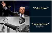 "Hitler-Mussolini reincarnated. We will not be obstructed from defending our First Amendment rights, DICKtator Mein Drumpf!  Snarky Democrat: RVA  ""Fake News""  Lugenpresse  ""Lying Press"" Hitler-Mussolini reincarnated. We will not be obstructed from defending our First Amendment rights, DICKtator Mein Drumpf!  Snarky Democrat"