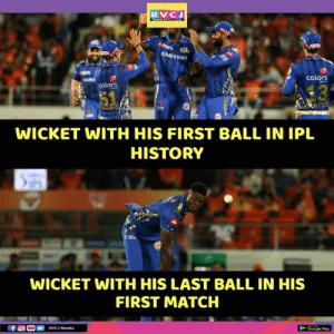 Joseph!: RVC  SAMS  UNG  colors  13  colors  WICKET WITH HIS FIRST BALL IN IPL  HISTORY  WICKET WITH HIS LAST BALL IN HIS  FIRST MATCH Joseph!