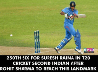 Suresh Raina..Take a bow.. rvcjinsta: RVCJ  250TH SIX FOR SURESH RAINA IN T20  CRICKET SECOND INDIAN AFTER  ROHIT SHARMA TO REACH THIS LANDMARK Suresh Raina..Take a bow.. rvcjinsta