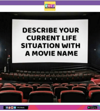 Comment 👇: RVCJ  DESCRIBE YOUR  CURRENT LIFE  SITUATION WITH  A MOVIE NAME  RVC Media Comment 👇