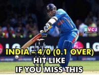 Memes, India, and 🤖: RVCJ  INDIA- 470 (0.1 OVER)  HIT LIKE  IF YOU MISS THIS Admit it! We all miss Sehwag's first ball four rvcjinsta