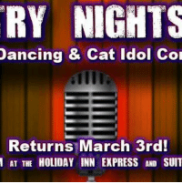 Dancing, Memes, and Express: RY NIGHTS  Dancing & Cat Idol col  Returns March 3rd!  AT THE HOLIDAY INN EXPRESS AND SUIT 31 people interested · 7 people going