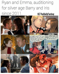 From @thedailyfanboy - Crazy Stupid Love (2011), Gangster Squad (2013), and La La Land (2016) for those wondering. No offense to Grant, Candice, Ezra, and Kiersey but maybe there's room for 3 versions 🤔 lol. dc dceu dccomics comics barryallen theflash flash iriswest silverage ryangosling emmastone fancast comicbooks lalaland gangstersquad crazystupidlove ryangoslingandemmastone meme memes: Ryan and Emma, auditioning  for silver age Barry and Iris  since 2011  IG| TheDailyFanboy  WHAT  RELAX, IRIS I GOT THE  HE FLASH CAUGHT THE MAN WHOLE STORY FROM THE  ESPONSIBLE FOR THE MYS- FLASH!LL FILL YOU IN  TERIC US BANK THEFTS  HAVE GET THE STORY  2-  CN THE DETAILS-  FOR MY PAPER I From @thedailyfanboy - Crazy Stupid Love (2011), Gangster Squad (2013), and La La Land (2016) for those wondering. No offense to Grant, Candice, Ezra, and Kiersey but maybe there's room for 3 versions 🤔 lol. dc dceu dccomics comics barryallen theflash flash iriswest silverage ryangosling emmastone fancast comicbooks lalaland gangstersquad crazystupidlove ryangoslingandemmastone meme memes