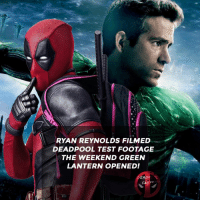 😅👌 • • • • Follow @deadpoolfacts for your daily Deadpool dose. 👇👇👇👇 ryanreynolds xforce deadpool2 mcu infinitywar deadpool marvel greenlantern: RYAN REYNOLDS FILMED  DEADPOOL TEST FOOTAGE  THE WEEKEND GREEN  LANTERN OPENED!  DEADROL  FACTS 😅👌 • • • • Follow @deadpoolfacts for your daily Deadpool dose. 👇👇👇👇 ryanreynolds xforce deadpool2 mcu infinitywar deadpool marvel greenlantern