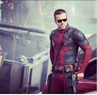 Af, Memes, and Movies: Ryan Reynolds looking cool AF on set of Deadpool 2 • • • • Follow @deadpoolfacts for your daily Deadpool dose. 👇👇👇👇 @vancityreynolds 🙌 wadewilson marvelnation driveby q dc fox movies deadpool marvel deadpool2 hahaha lmfao heh