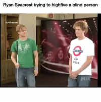 The cringe is strong: Ryan Seacrest trying to highfive a blind person  IG: @Daquan  U136  FO) The cringe is strong