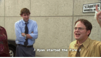 Memes, 🤖, and Ryan: Ryan started the fire The fire guy!
