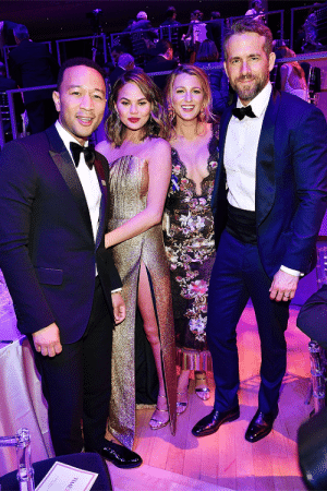 ryanreynoldssource:    Ryan Reynolds, John Legend, Chrissy Teigen and Blake Lively attend 2017 Time 100 Gala at Jazz at Lincoln Center on April 25, 2017 in New York City.  : ryanreynoldssource:    Ryan Reynolds, John Legend, Chrissy Teigen and Blake Lively attend 2017 Time 100 Gala at Jazz at Lincoln Center on April 25, 2017 in New York City.