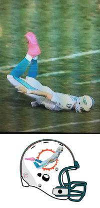 In honor of Ryan Tannehill's dive into the turf, the Dolphins have changed their logo.: RyT In honor of Ryan Tannehill's dive into the turf, the Dolphins have changed their logo.