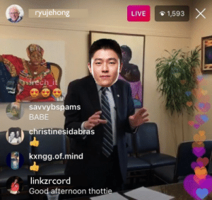 Good, Live, and Mind: ryujehong  LIVE  1,593  savvybspams  BABE  christinesidabras  kxngg.of.mind  linkzrcord  Good afternoon thotti