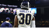 Memes, News, and Nfl: s-Benz Superdome  NFL  S ANGELES  GURLEY I  30 Good news for @RamsNFL fans, @TG3II maintains his knee is not injured: https://t.co/6uNJAOii3e https://t.co/GcmW4jLKLf
