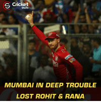 MI - 137/4 (14 overs) Need 94 in 36 balls Pollard & Pandya are at the middle: S Cricket  Shots  MUMBAI IN DEEP TROUBLE  LOST ROHIT & RANA MI - 137/4 (14 overs) Need 94 in 36 balls Pollard & Pandya are at the middle