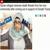 Community, Crime, and Donald Trump: S Crime ustice Energy+Environment Extreme Weather Space Sciene  Syrian refugee recieves death threats from her own  community after coming out in support of Donald Trump <p>😻😻😻</p>