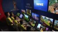 Fifa, Soccer, and World Cup: S.  FIFA FORTNITE  VAR ROOM  WORLD CUP  RUSSIA 2018  spa Live scenes in the VAR studio: https://t.co/LXNocHHHnz