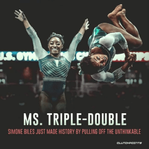 Congrats to Simone Biles on winning her 6th US gymnastics title with a triple-double 🏆 — @ClutchPoints: .S.OYM  MS. TRIPLE-DOUBLE  SIMONE BILES JUST MADE HISTORY BY PULLING OFF THE UNTHINKABLE  CLUTCHPOINTS Congrats to Simone Biles on winning her 6th US gymnastics title with a triple-double 🏆 — @ClutchPoints