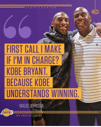 Kobe Bryant, Memes, and Angels: S P O R T C E N T E R  FIRST CALLI MAKE  IF I'M IN CHARGE?  KOBE BRYANT  BECAUSE KOBE  UNDERSTANDS WINNING  MAGICOHNSON  LOS ANGEL  LOS ANGELES LAKE R S 2nd call should be to me. 3rd call to Kendrick Perkins for obvious reasons.